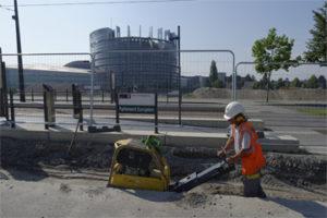 Sogeca Terrassement réseau chaleur Parlement européen
