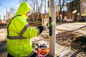 Sogeca réseau électrique signalisation dynamique Strasbourg
