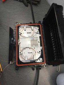 Sogeca boîtier raccordement fibre optique Alsace Rosace